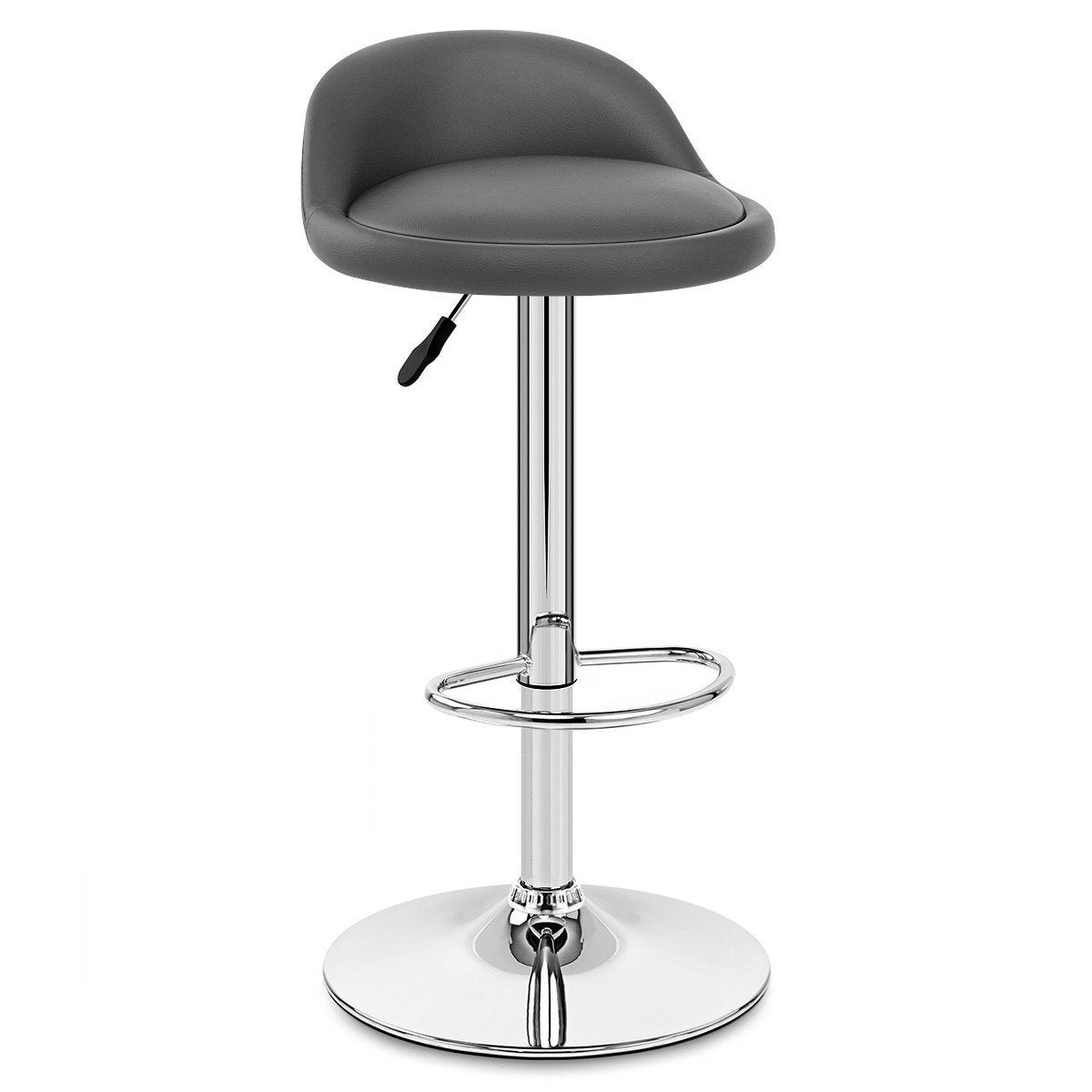 Tabouret De Bar Design Simili Cuir Gris Lulu Mdt