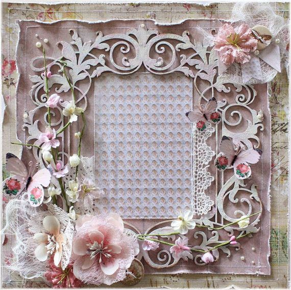 Premade 12x12 Shabby Chic Scrapbook Layout by ...