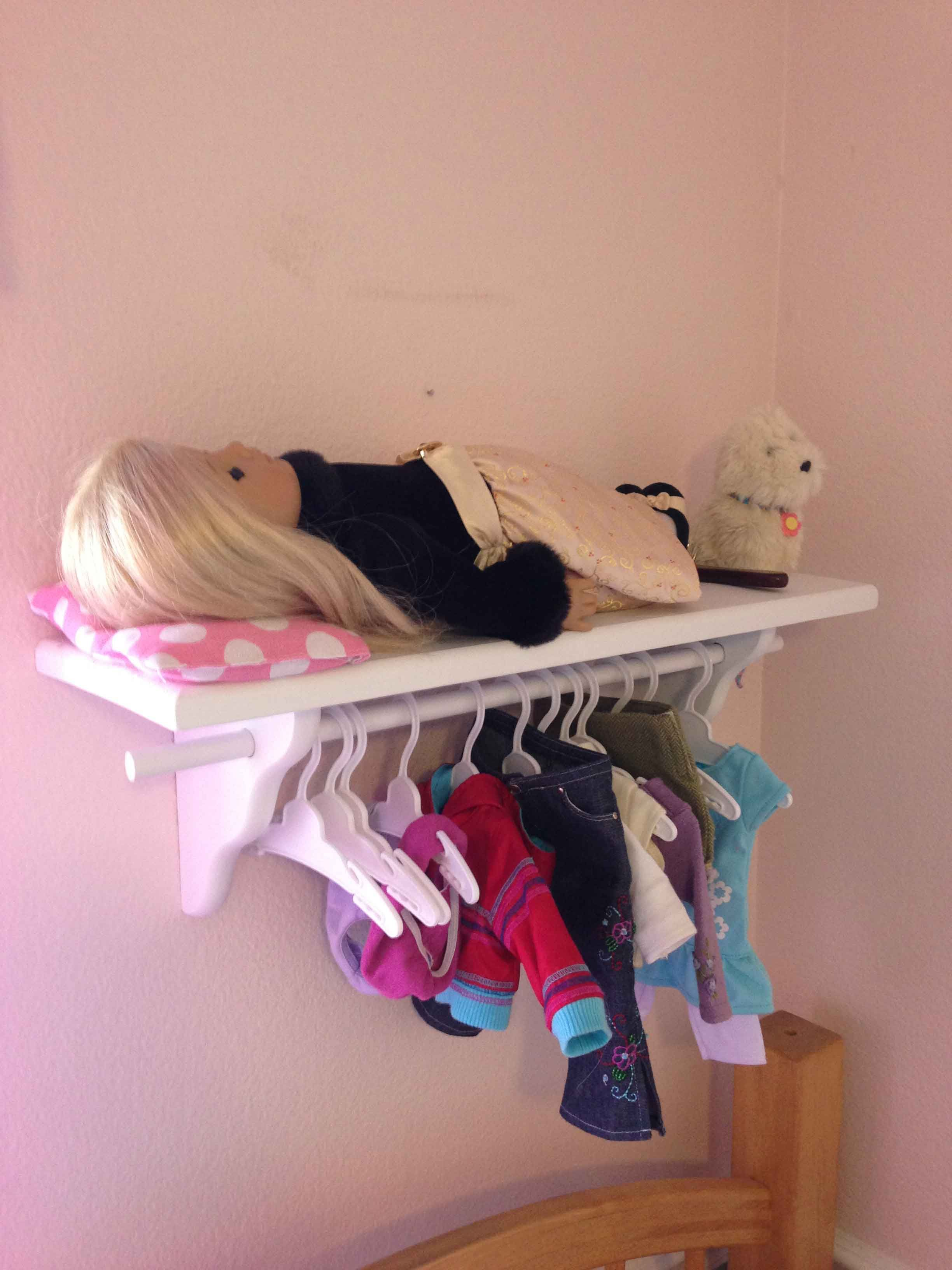 Diy 18 Inch Doll Bed Amp Clothing Storage Pinching Your