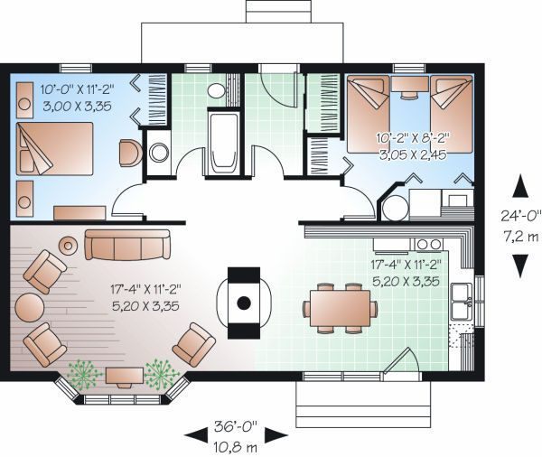 plano de cabaa de madera pequea con planos de casas gratis