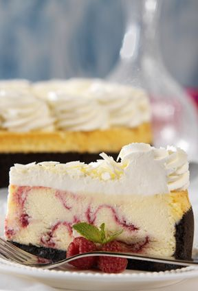 White Chocolate Raspberry Truffle Cheesecake From The Cheesecake