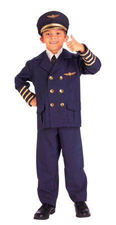 d579b567 Amazon.com: Child Airline Pilot Costume - Small (4-6): Toys & Games ...