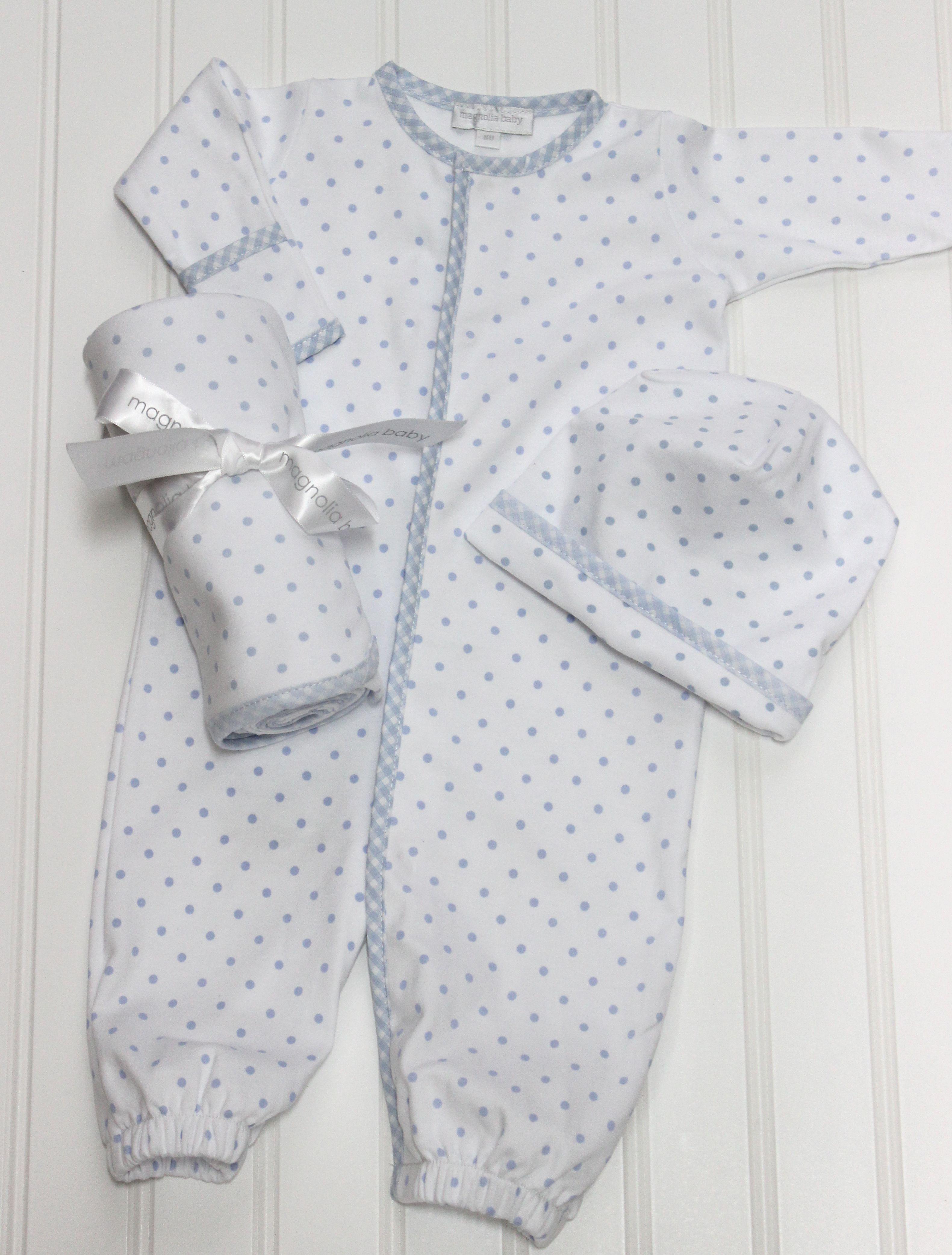 Magnolia Baby Boys White & Blue Converter Gown | kezimunka ...