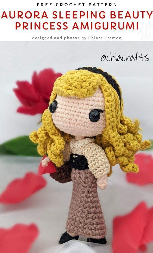 Aurora Sleeping Beauty Princess Amigurumi Free Crochet Pattern