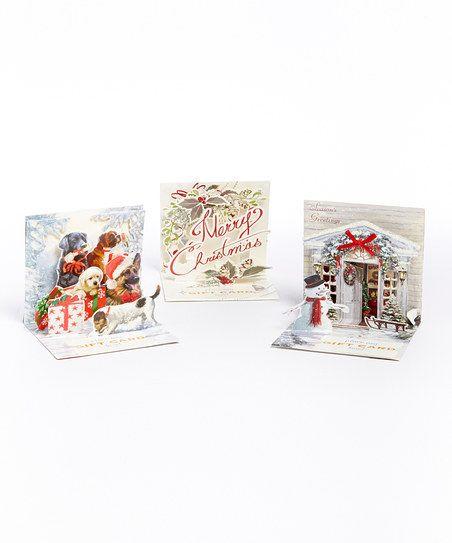 Traditional Holiday Gift Card Holder Pop-Up Card Set