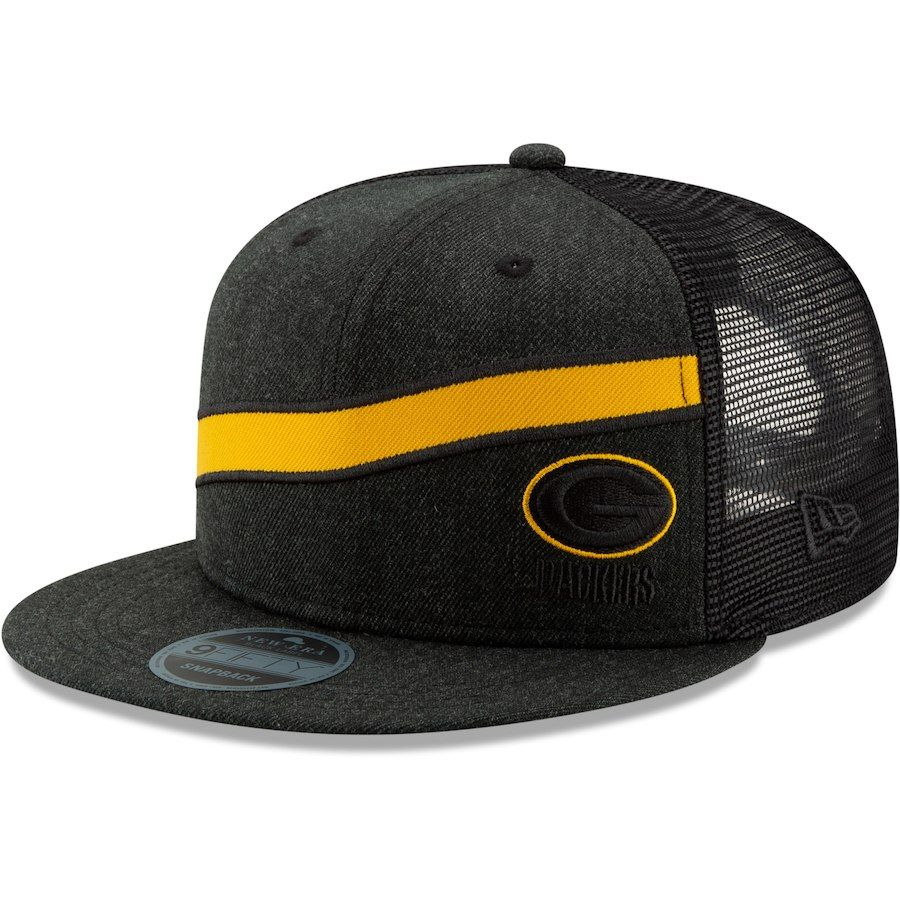 the best attitude bbfb5 31945 Men s Green Bay Packers New Era Heathered Black Label Scale Trucker 9FIFTY  Adjustable Snapback Hat, Your Price   29.99