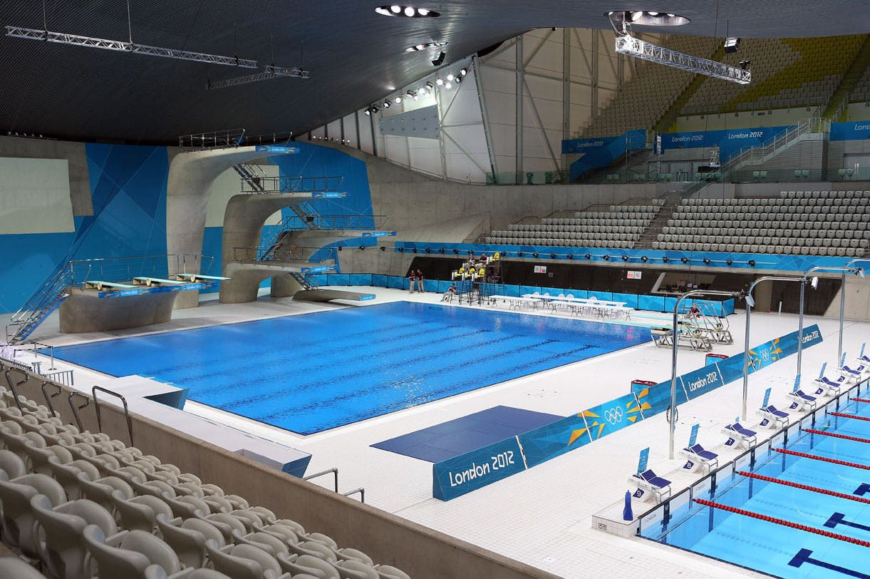 London aquatic centre swimming london aquatics centre london olympic games diving pool for How deep is a olympic swimming pool