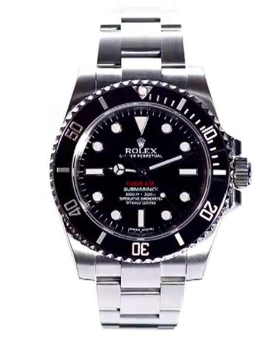 more photos 2f70d 89232 The Custom Rolex from Supreme That You Cant Show Mom [VIDEO ...