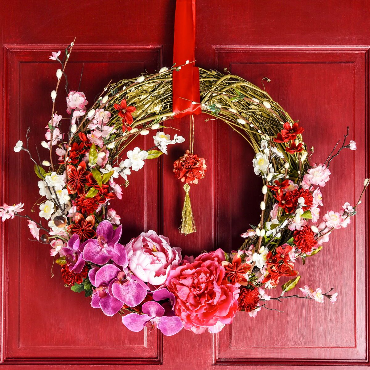 Lunar New Year Wreath Get REDy for Chinese New Year