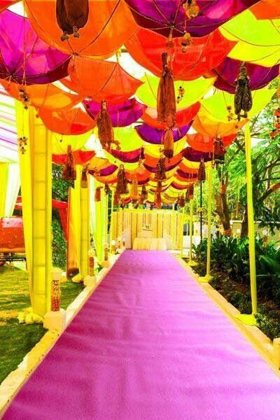 Bright and colourful umbrellas for an outdoor summer wedding bright and colourful umbrellas for an outdoor summer wedding indian wedding themeindian wedding decorationsstage junglespirit Gallery