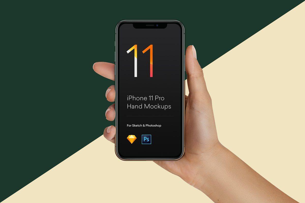 Hand mockups iphone 11 s10 pixel 4