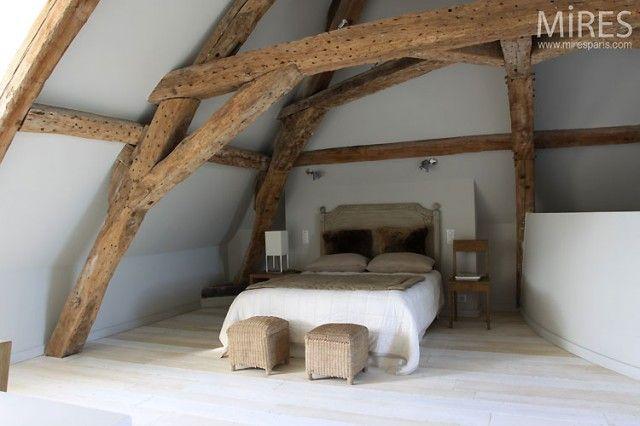 plus de 1000 ides propos de salle manger sur pinterest murs en briques exposes belle et bois expos - Chambre Mansardee Avec Poutre