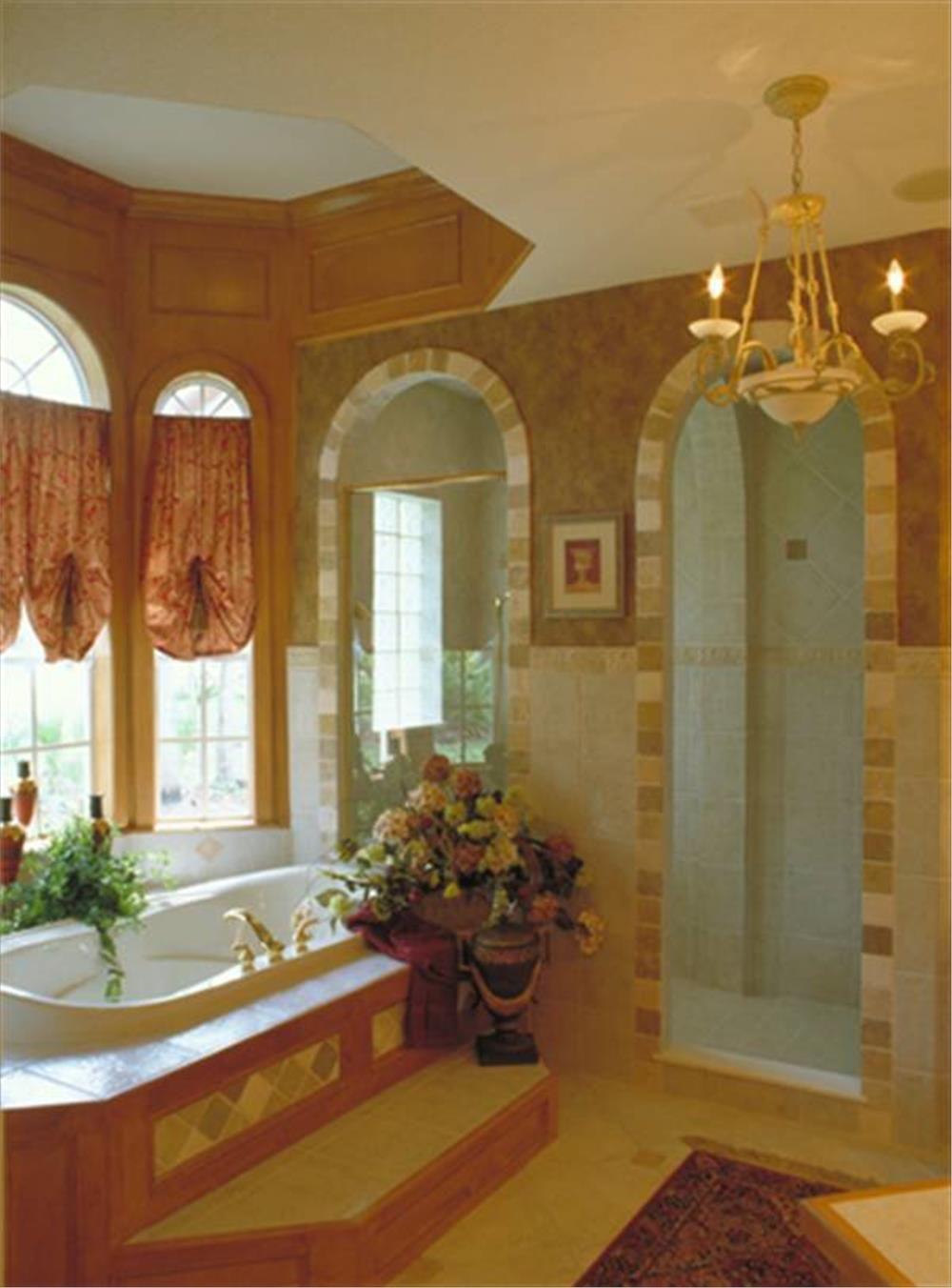 European style house plan master bathroom luxury
