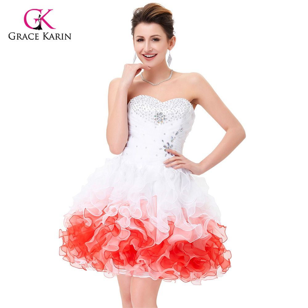 a3a0b10fd30 Free Shipping  Buy Best Mini Cocktail Dresses 2017 Grace Karin White ...