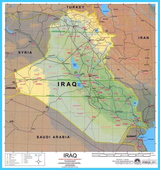 Awesome Map Of Iraq Travelsmaps Pinterest Map