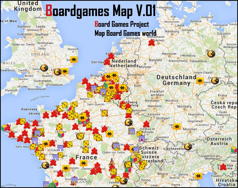 Un Autre Projet Des Aventures Ludiques La Boardgames Map Qui A