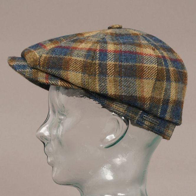 1a46a038a9b Wool Check Hatteras Cap - Blue Check