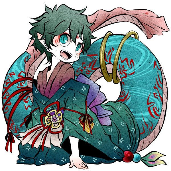 BnHA characters as Japanese Mythical Creatures Mythical