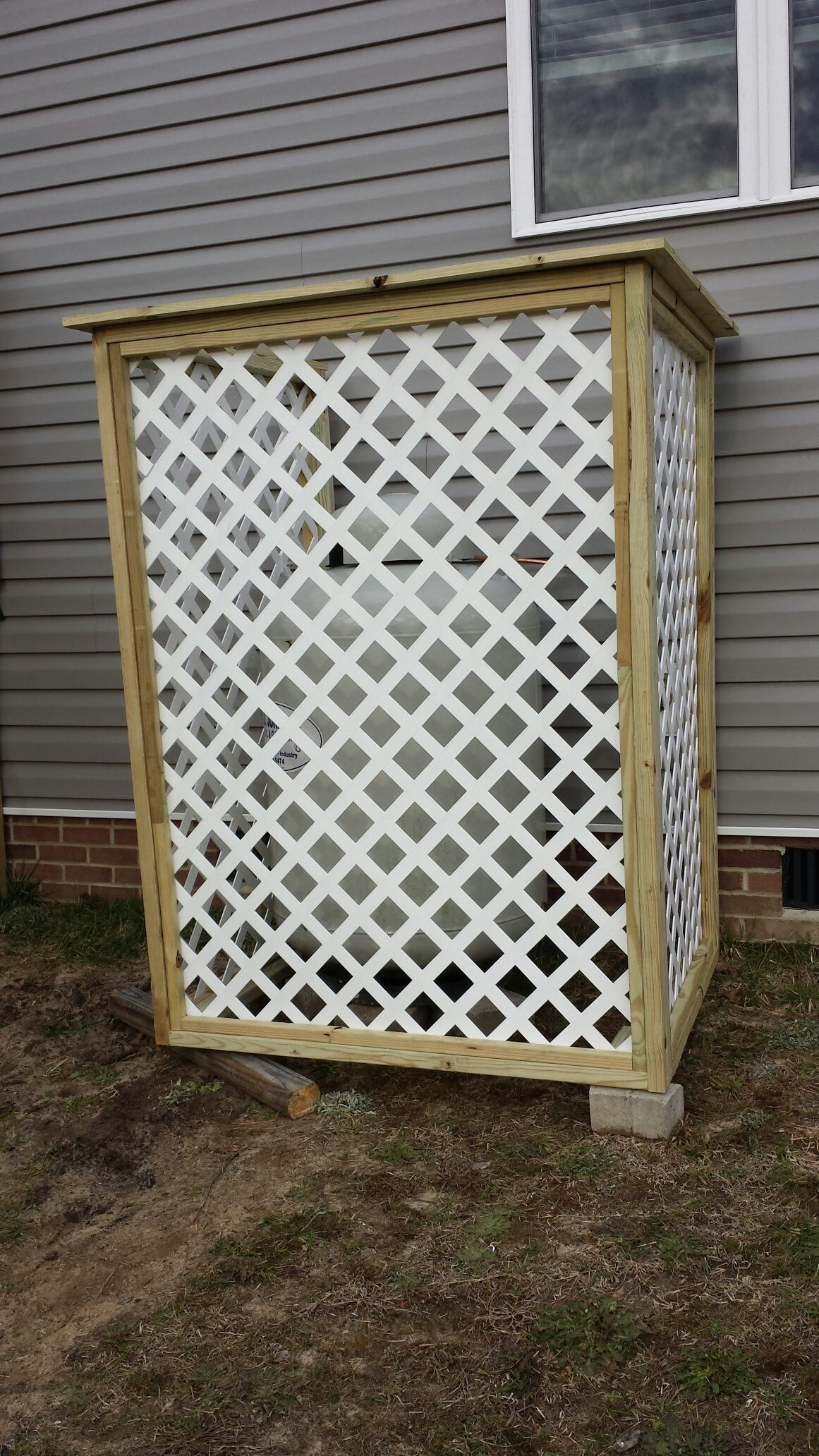 Built this today to cover the propane tank. DIY coming