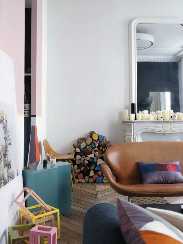 Chez jean christophe aumas home ideas deco appartement et maison parisienne - Maison parisienne ...