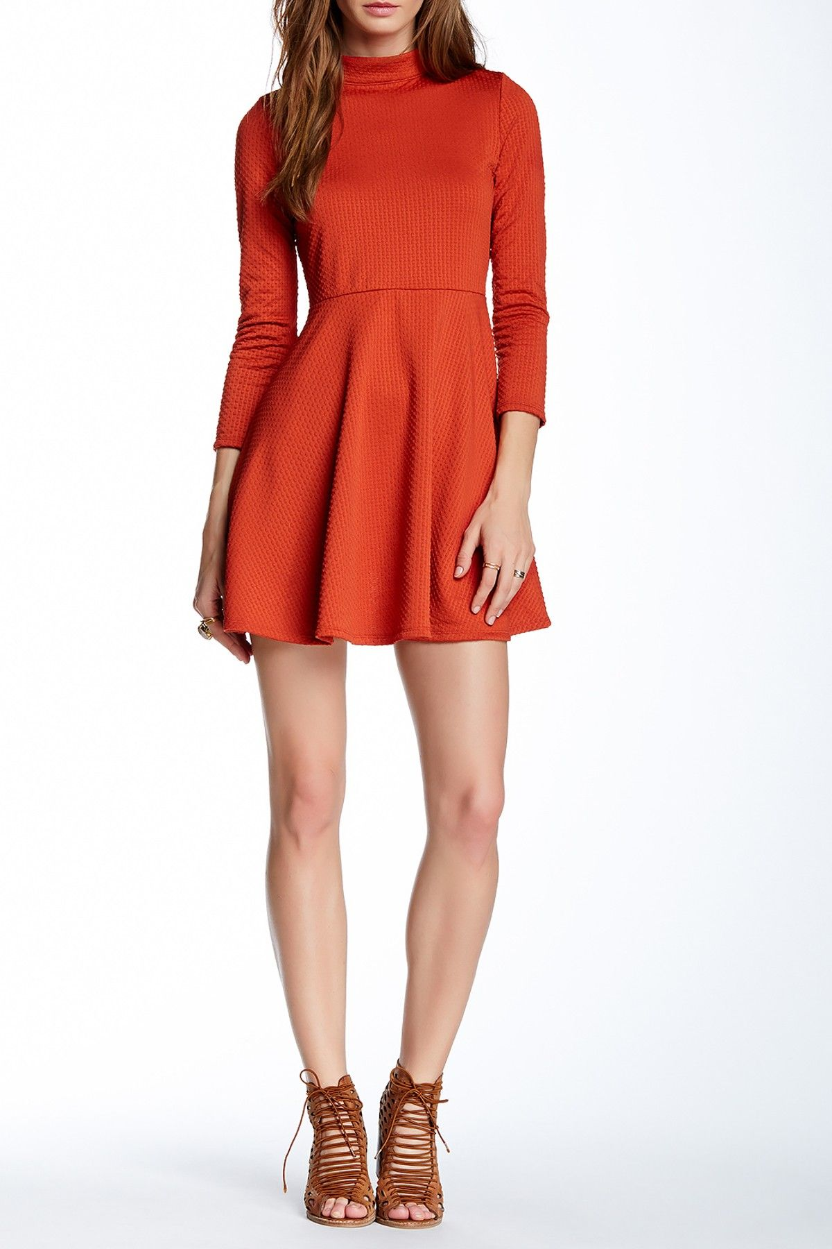 Fit & Flare Cutout Back Dress by Free People on @nordstrom_rack