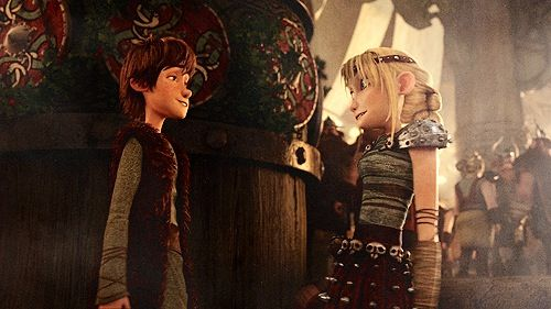 Hiccup and Astrid did anyone else notice in gift of the night fury ...