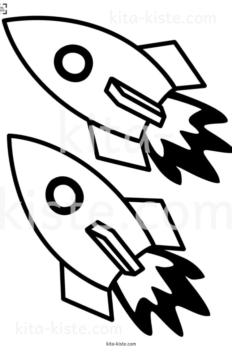 Raketen Set Fur Silvester O Ein Weltraumprojekt Ausmalbilder Vorlagen Bastelideen Kinder