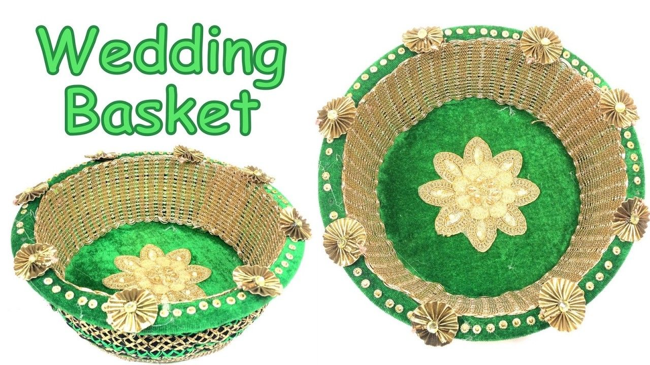 Wedding decorations to make  DIY  How to make decorative wedding basket Wedding decoration