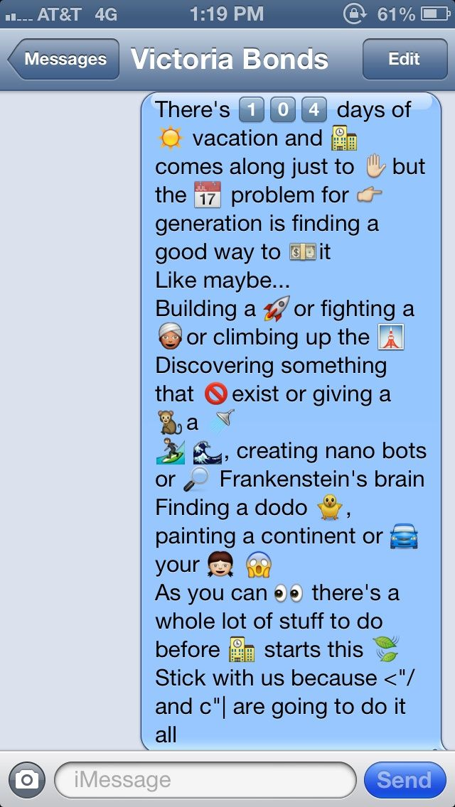 Mom! Phineas and ferb sent me a text of their title sequence!