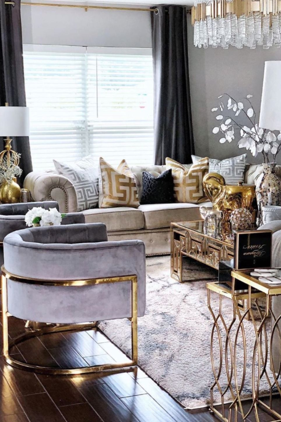 Gold Grand Elephant Candle Living Room Decor Cozy Luxury Living Room Design Living Room Design Decor