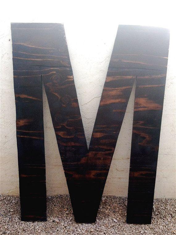 Large Wooden Letters M