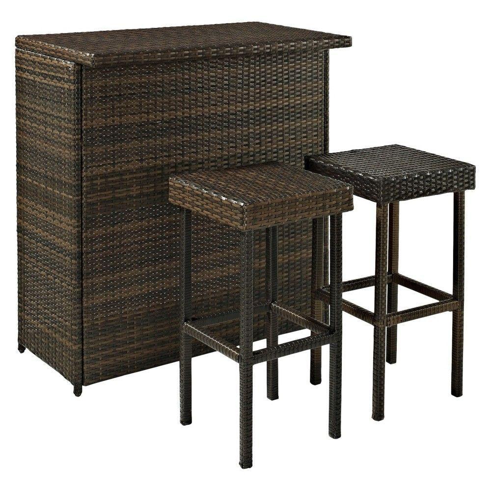 Merveilleux Palm Harbor 3 Piece Wicker Patio Bar Furniture Set
