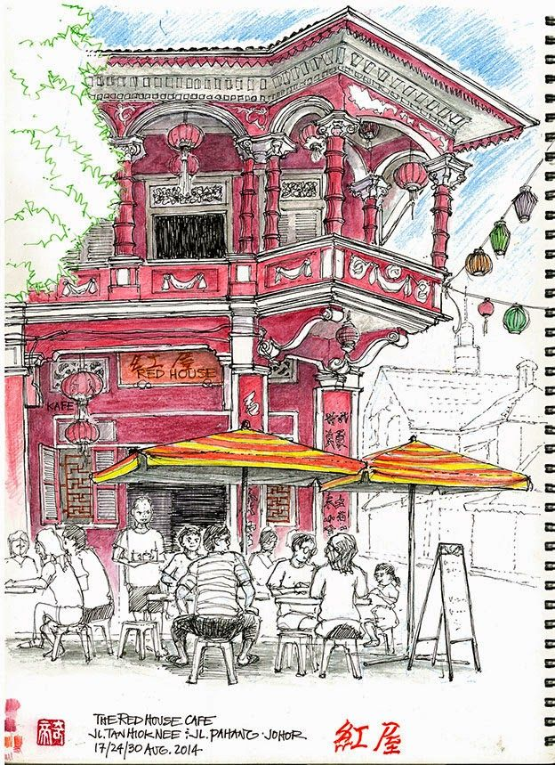 Red House Drawing