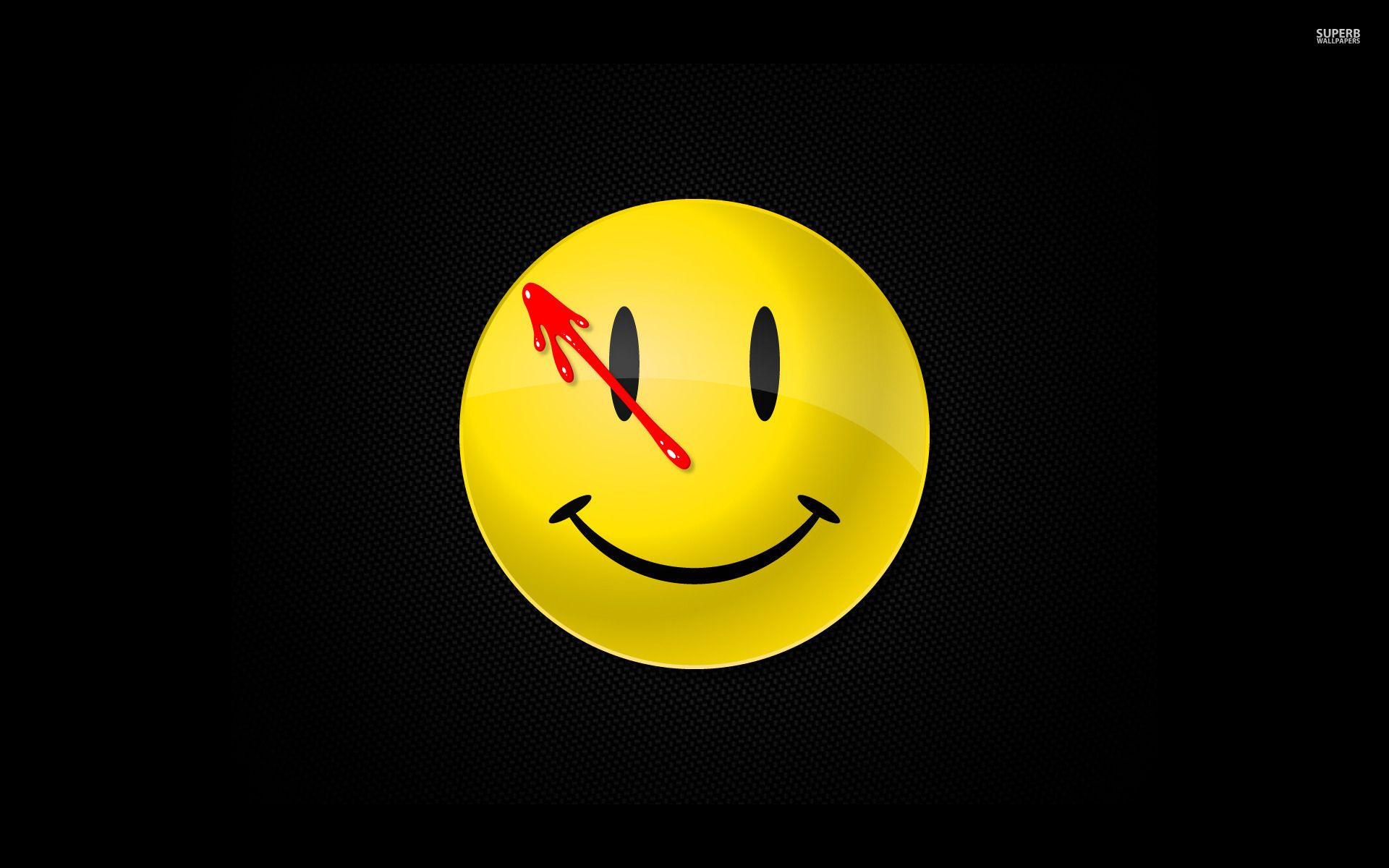 comedian's badge reaching from the darkness - watchmen wallpaper