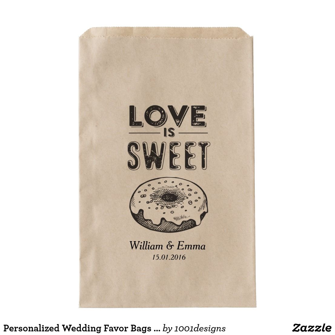 Personalized Wedding Favor Bags Donuts   Wedding and Engagement ...