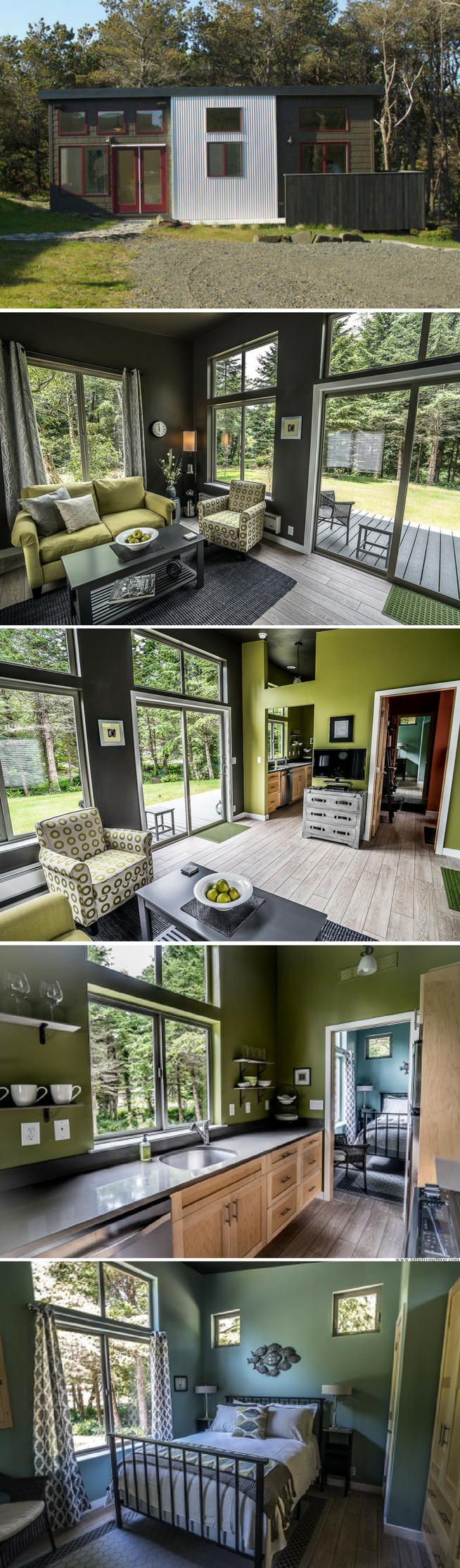 The northwest prefab home from ideabox sq ft tiny house livingtiny bedroomsmall also rh pinterest