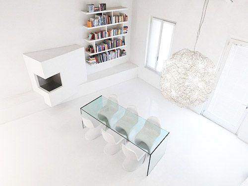 Designed House With White Minimalist Interior Designs