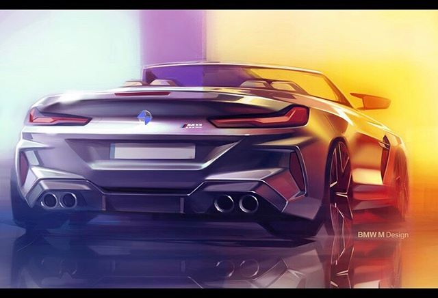 Bmw M8 Competition Convertible Design Sketch