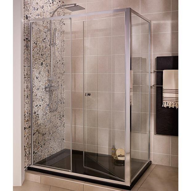 Porte de douche Esprit grand large - Les portes   parois grands espaces  pivotantes - Lapeyre b6810f125d15