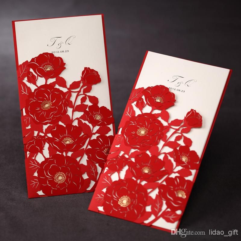 A wedding invitation insert is a useful way to share extra information with your wedding guests without crowding the main invitation with logistics. 50pieces Red Wedding Invitation Template Wedding Invitation Laser Cut Wedding Invites Wedding Invitations Handmade Invitation Cards Paper Party Supplies Invitations Announcements Sultraline Id