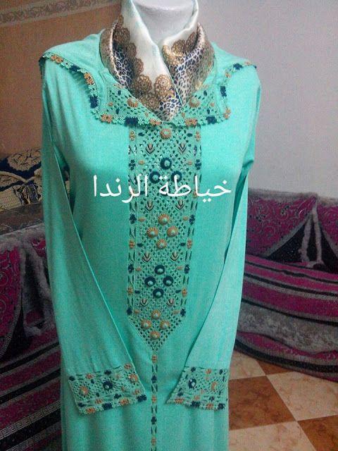 أروع جلابة بالراندة من طرف خياطة الراندا باللون الأخضر Fashion Womens Fashion Caftan