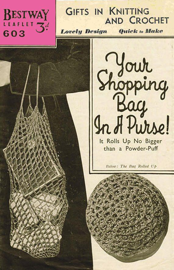 PDF Vintage 1940s Womens Ladies Bestway 603 Crochet Pattern String ...