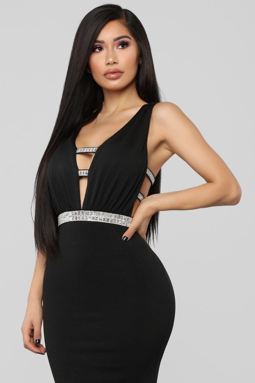 Give Me Diamonds Maxi Dress Black Black maxi dress