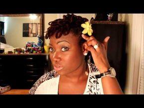loc petal fro for short locs  diy hairstyles hair styles