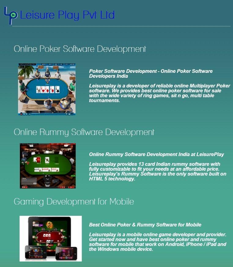 Leisure Play - Online Poker Software - Online Rummy Software - Online Gaming Development India