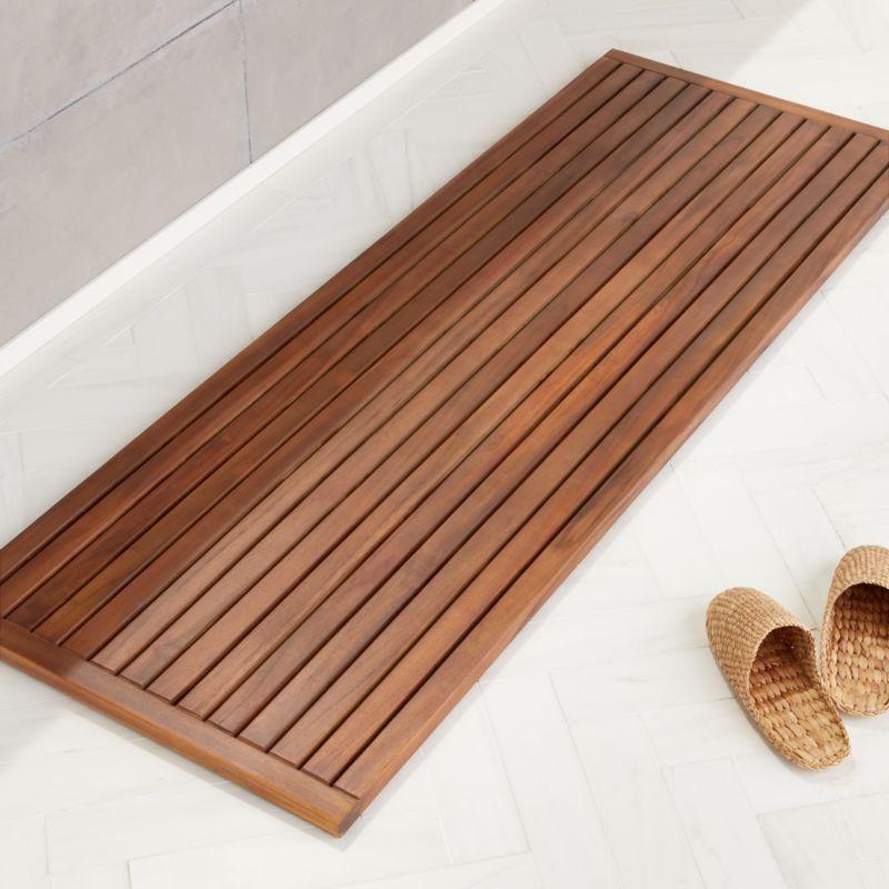 Lateral Teak Natural Bath Runner 21 75 X60 Reviews Cb2 Modern Bath Mat Teak Bath Teak Bathmat