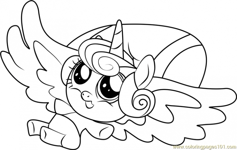Flurry Heart My Little Pony Coloring Page My Little Pony Coloring My Little Pony Unicorn Heart Coloring Pages
