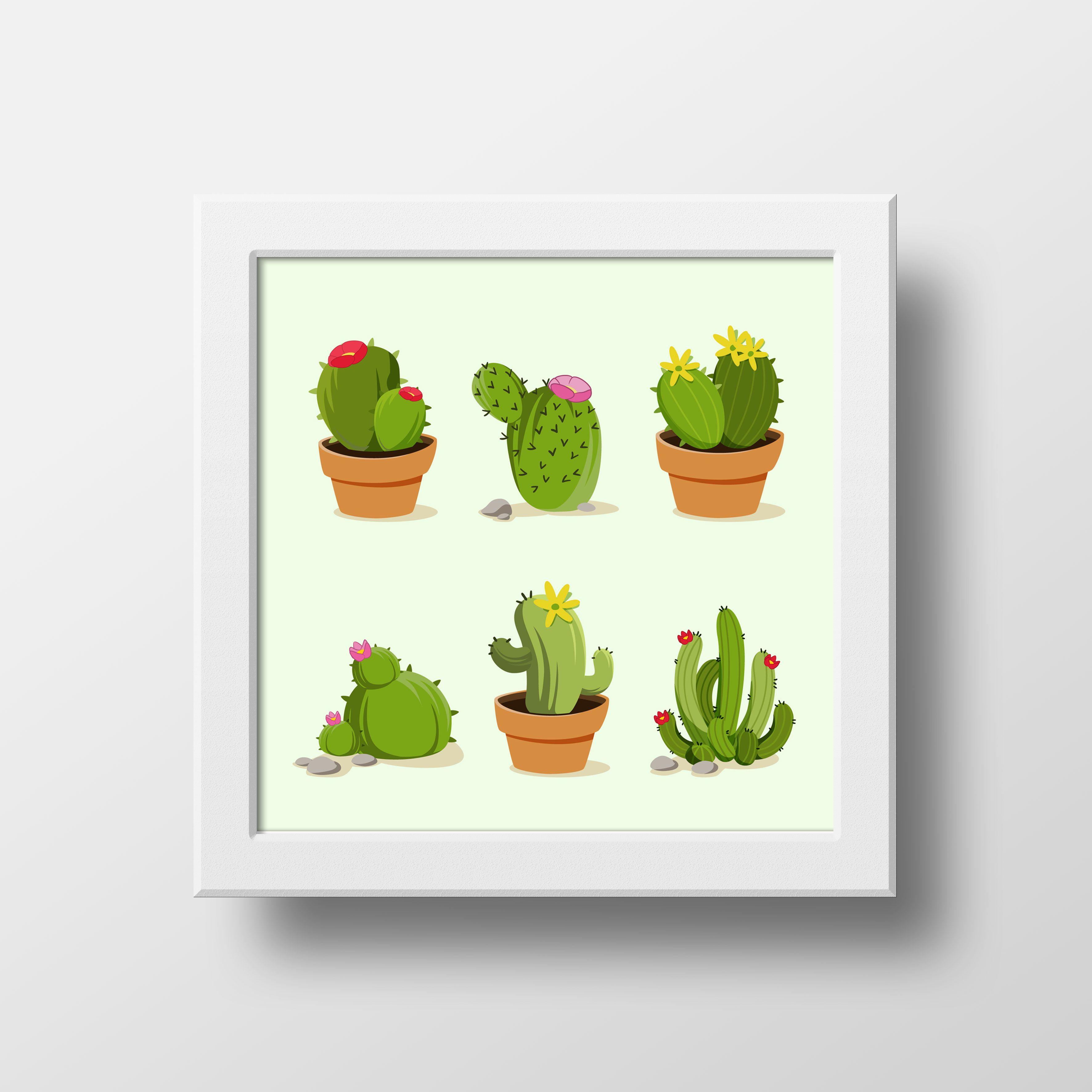 Wa 081 946 542 871 Poster Dinding Gambar Kaktus Hiasan Dinding Poster Kaktus Poster Menggambar Kaktus Dinding
