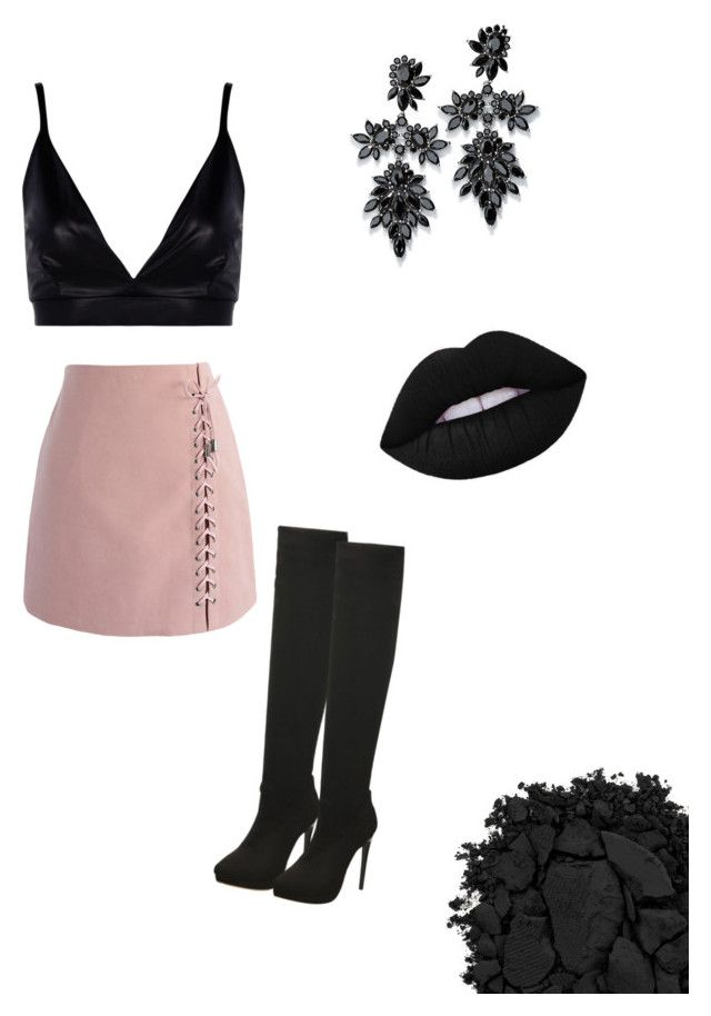 """""""Merry Dark"""" by pavlinap on Polyvore featuring Chicwish, Boohoo, Fallon and Urban Decay"""