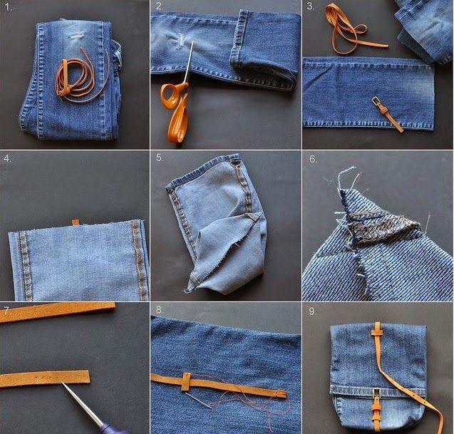 Cara Membuat Tas Dari Celana Jeans Bekas Tas Denim Tas Jeans